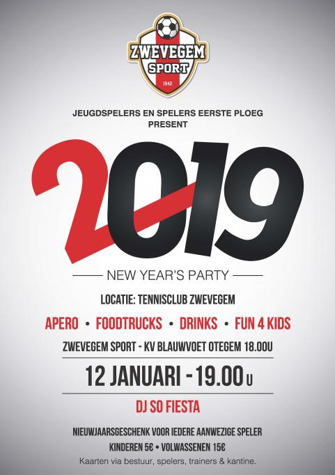New Year's Party: 12 januari 2019 vanaf 19u